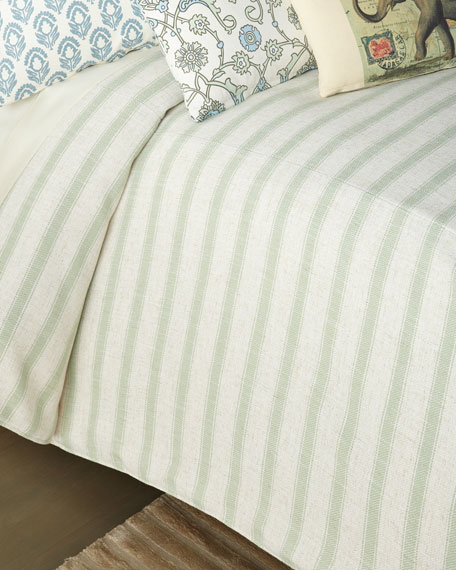 French Laundry Home Stripe Queen Coverlet