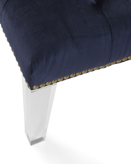Amazing Deena Tufted Ottoman With Acrylic Legs Creativecarmelina Interior Chair Design Creativecarmelinacom