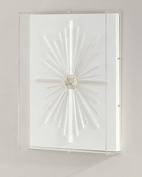 J145   Mirror decorated with selenite, a transparent ...  Decorating With Selenite