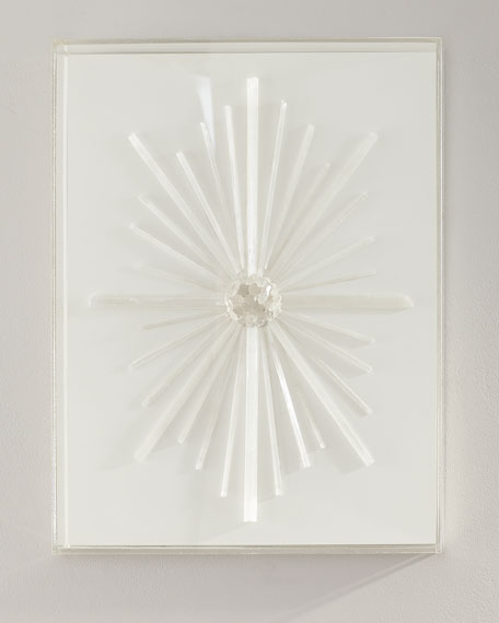 Nancy Price Selenite Starburst with Quartz Wall Decor