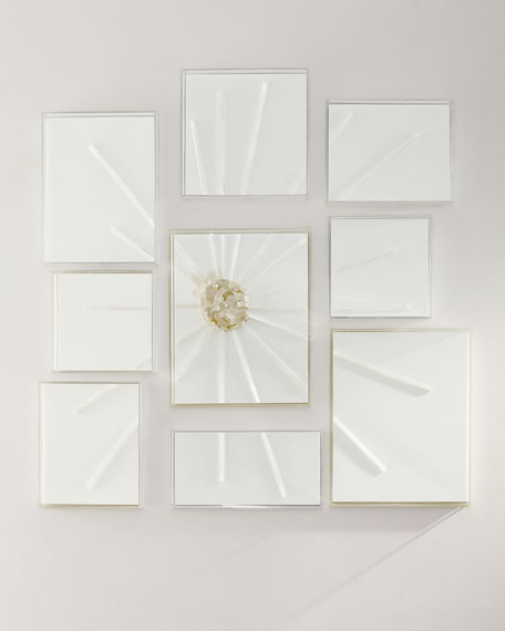 9-Piece Abstract Starburst Rays Wall Decor
