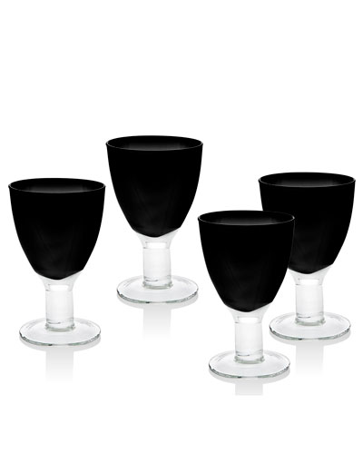 Galley Black Goblets  Set of 4