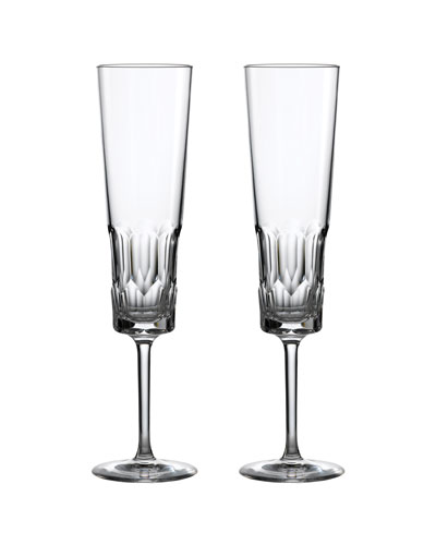 Pair of Icon Champagne Flutes  Clear