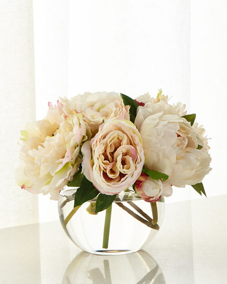 John-Richard Collection Fresh Peonies Arrangement