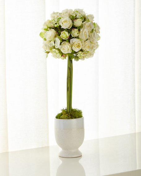 Cornsilk Rose Topiary
