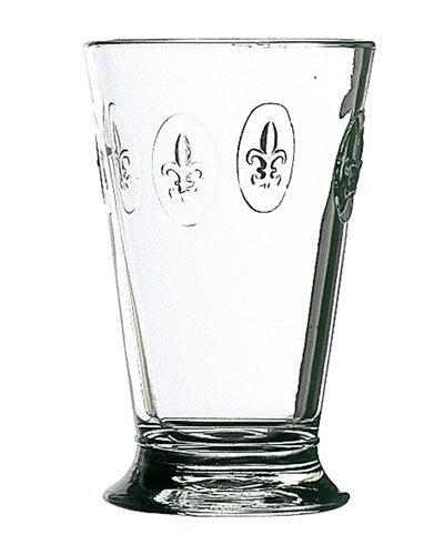 Fleur de Lys Ice Tea Glasses  Set of 6