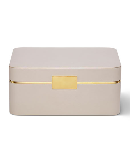 AERIN Beauvais Leather Jewelry Box