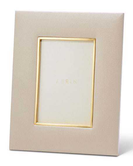 "Valentina Leather Picture Frame, 4"" x 6"""