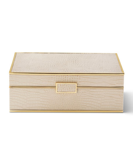 AERIN Classic Croc Large Jewelry Box
