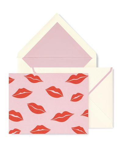 kisses fold-over card set