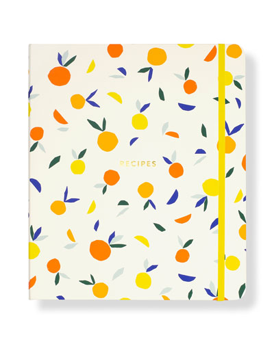 patterned recipe book
