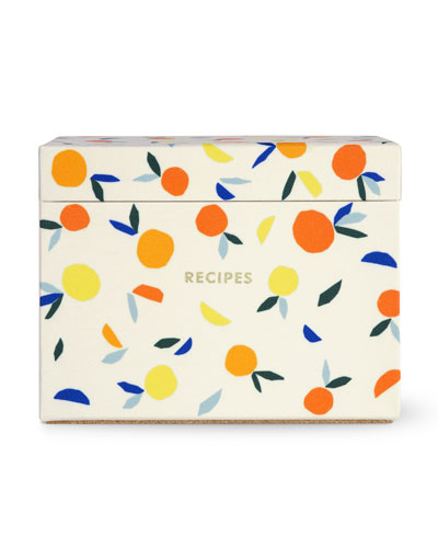 patterned recipe box