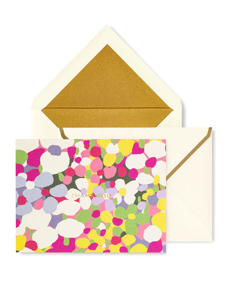 Floral Dot Thank You Card Set