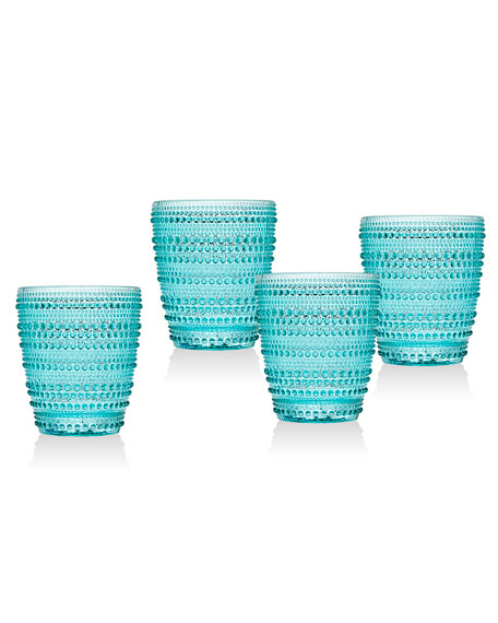 Lumina Green Double Old-Fashioned Glasses, Set of 4