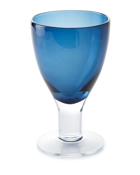 Godinger Galley Cobalt Goblets, Set of 4