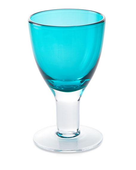 Godinger Galley Turquoise Goblets, Set of 4