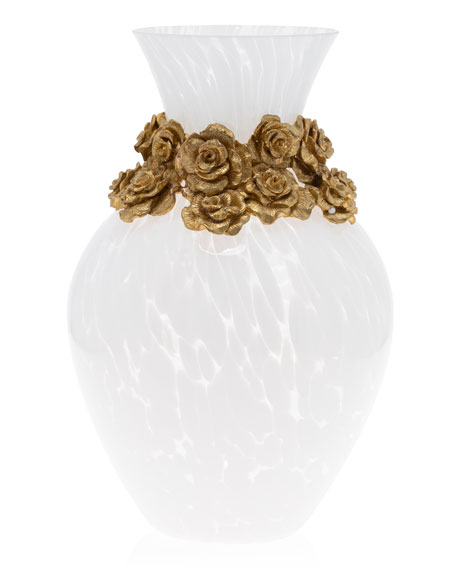 Jay Strongwater Rose Vase
