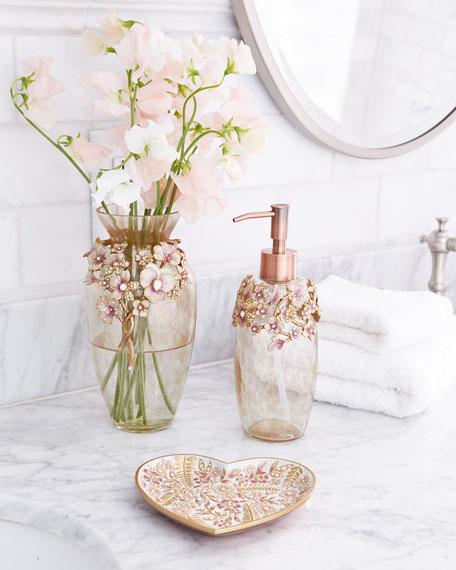 Boudoir Floral Heart Trinket Tray