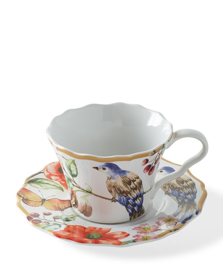 Ambri Cups & Saucers, Set of 4