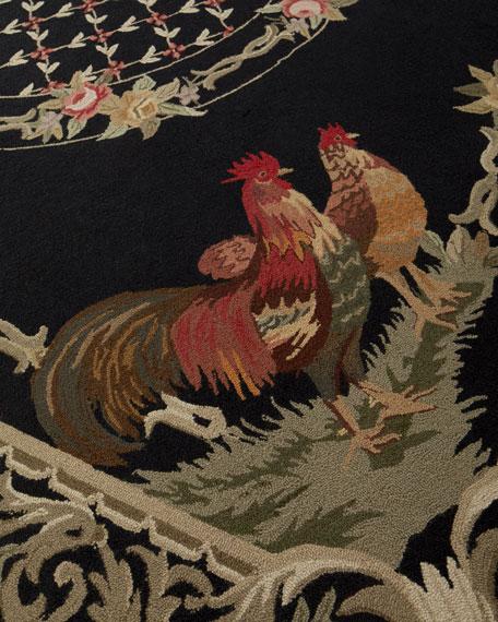 Bijou Rooster Hand-Hooked Rug, 9.9' x 13.9'