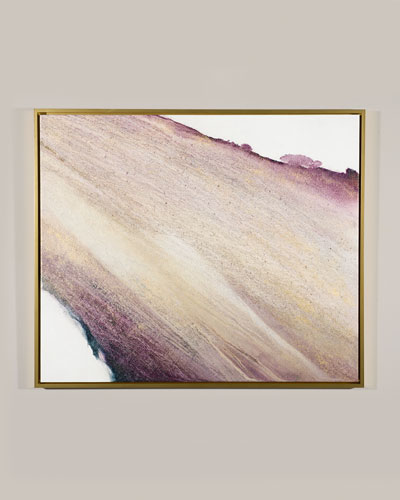 Amethyst and Gold Giclee Canvas Art by Lisa Cuscuna