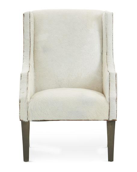 Glacier Hair Hide Wing Chair