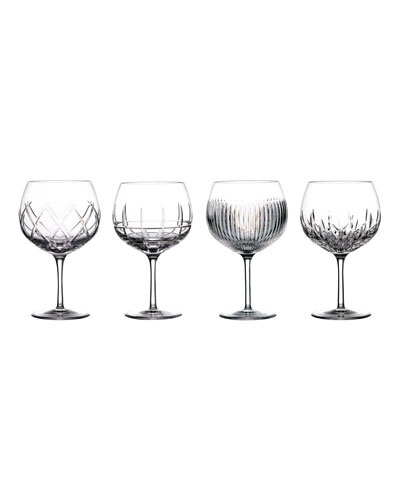 Gin Journey Assorted Balloon Glasses  Set of 4