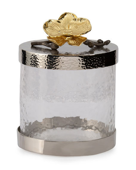 Michael Aram Gold Orchid Extra Small Canister