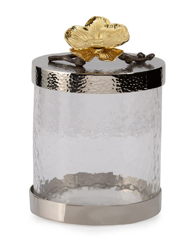 Gold Orchid Small Canister