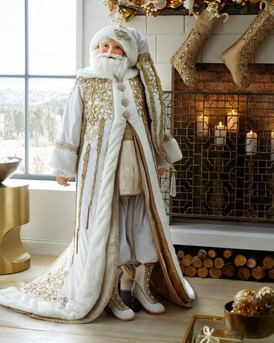 Life-Size Thread of Gold Santa