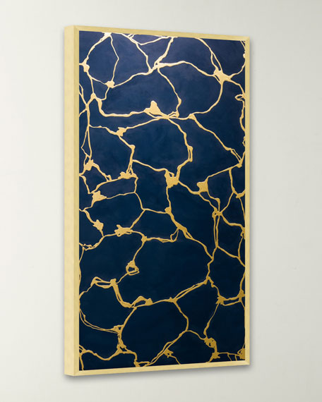 """Molten Deep Turquoise"" Original Painting"