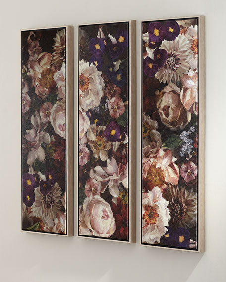 """Opulent"" Triptych Giclee Art on Canvas"