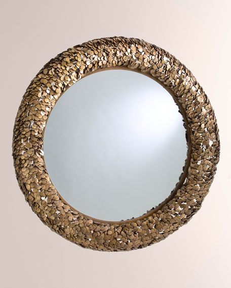 Gypsy Coin Antiqued Brass Mirror
