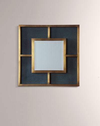 Cairo Brass & Shagreen Mirror