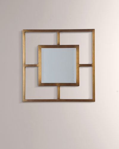 Cairo Brass Open Frame Mirror