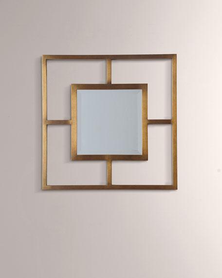 Cairo Brass Open Frame Mirror