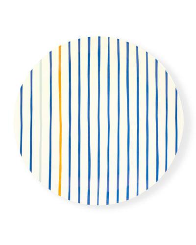 citrus twist striped dinner plate