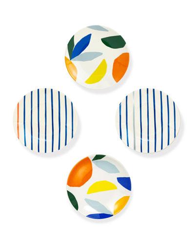 citrus twist tidbit plates  set of 4