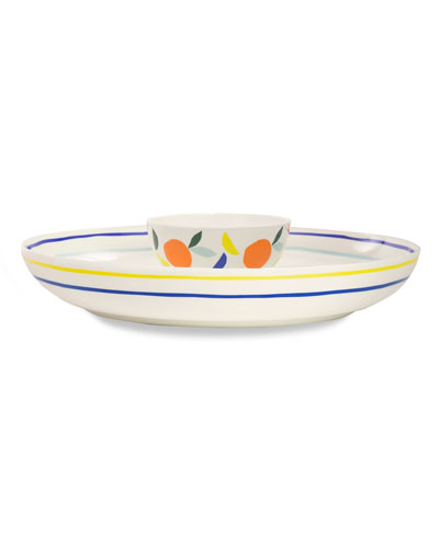 citrus twist chip & dip bowl