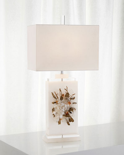Profusion Of Crystal Alabaster Table Lamp