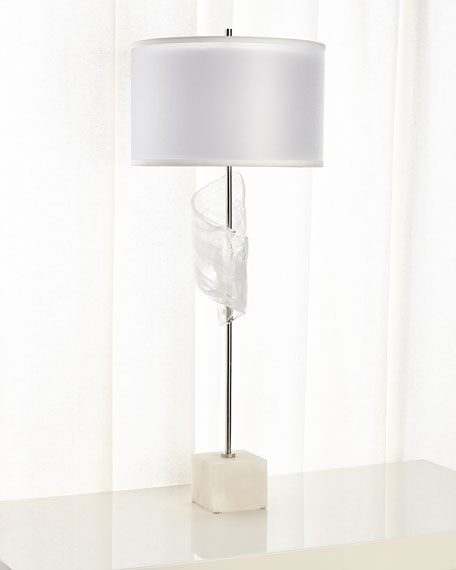 John-Richard Collection Furls Of White Lamp