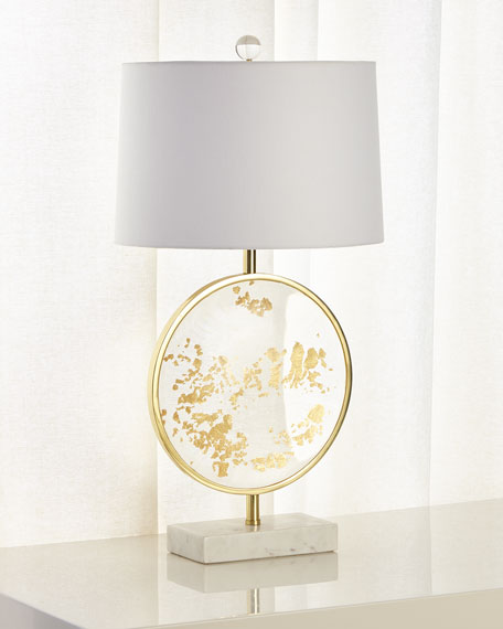 Freckled Gold Leaf Table Lamp