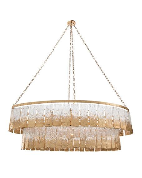 12-Light Slumped Glass Light Pendant