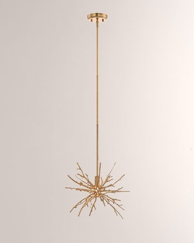 Single Drop Spiked Branch Lighting Pendant