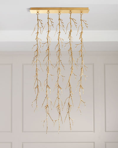 5-Light Spiked Branch Chandelier
