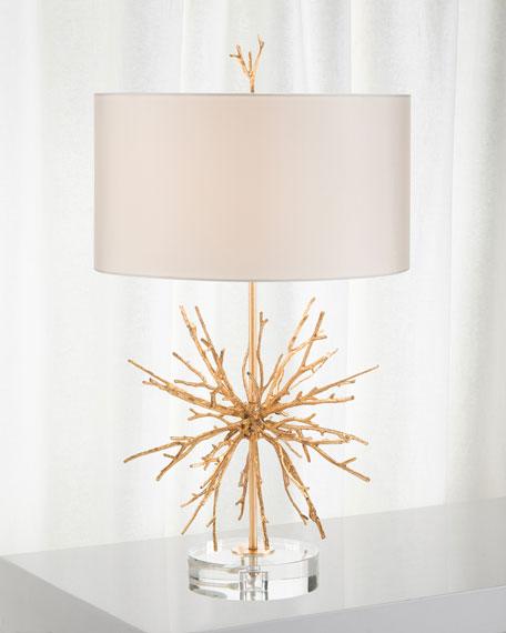 Brass Spike Lamp