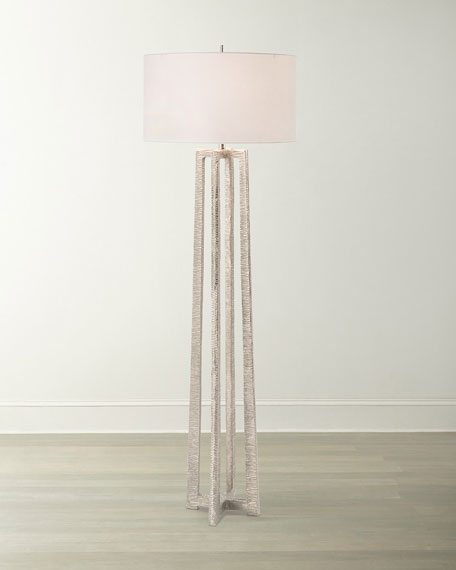 Nickel Plated Floor Lamp