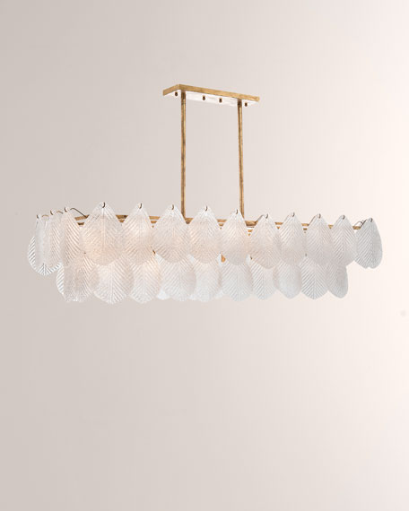 John-Richard Collection Frosted Glass Petal Chandelier