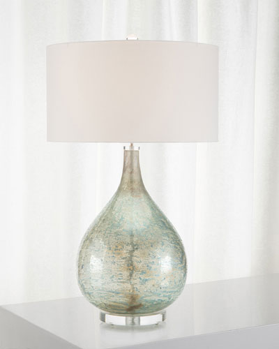 Deep Ocean Blue Table Lamp