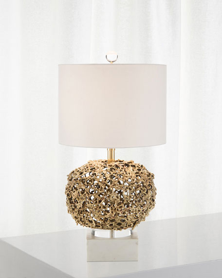 Layered Organic Brass Lamp